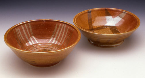 Shino Glazed Bowls