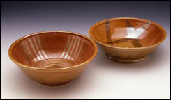2 Shino Glazed Bowls